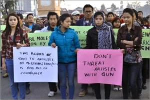 Meities protester Pic:TSE