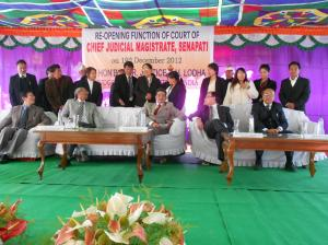 Re-opening Senapati District court. Pix: Hornbill Express