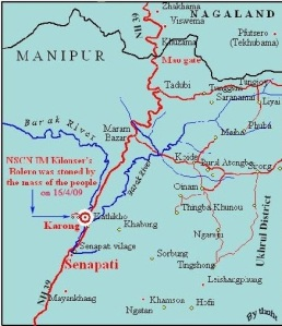 Map showing Karong-Senapati areas